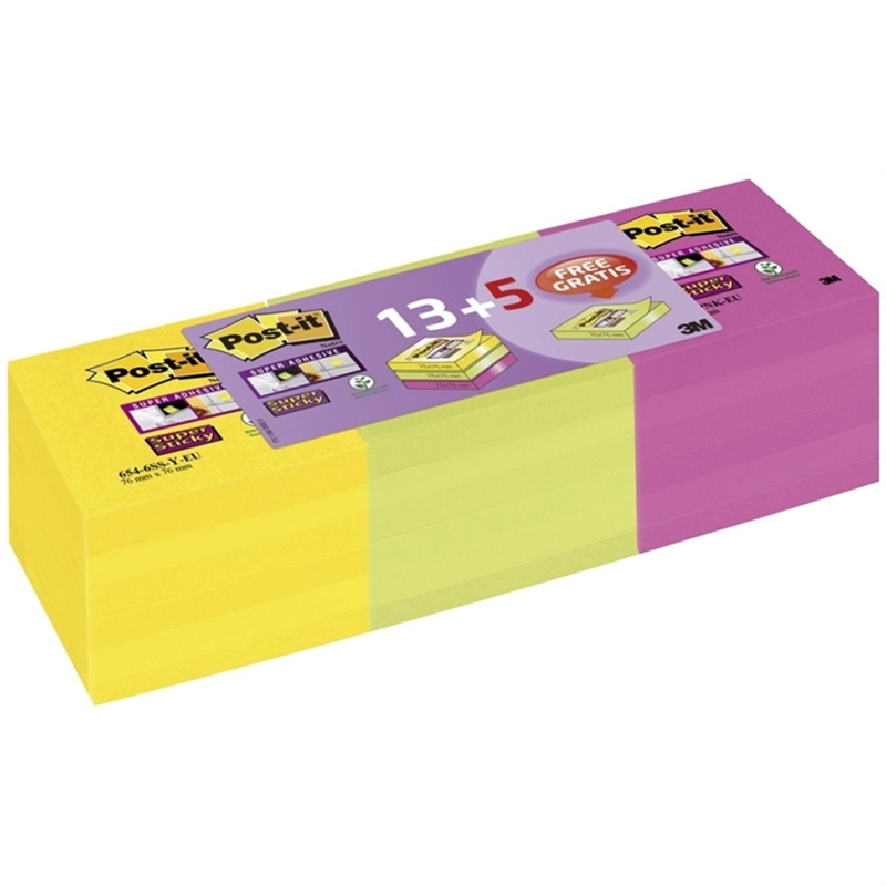 post-it-supersticky-haftnotizen-ultrafarben-76-x-76-mm-18-bloecke-13-5-gra