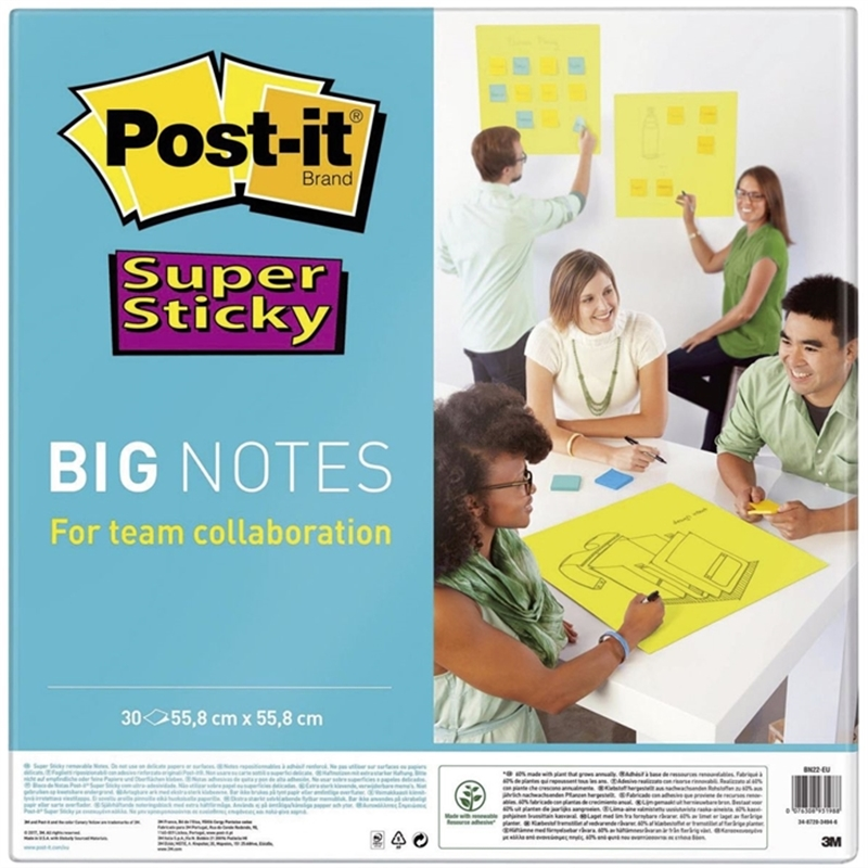 post-it-supersticky-haftnotizblock-55-8-x-55-8-cm-30-blatt-neongruen-blanko